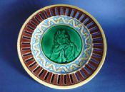 Stunning Wedgwood Majolica 'Email Ombrant' Reticulated Plate c1871